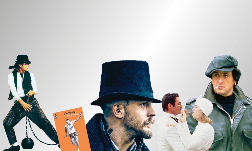 Michael Jackson; Morrissey; Tom Hardy; Burt Reynolds with Cybill Shepherd; Sylvester  Stallone.