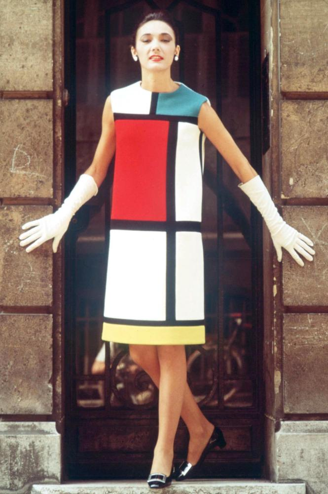 The Mondrian Dress by Yves Saint Laurent in 1968.