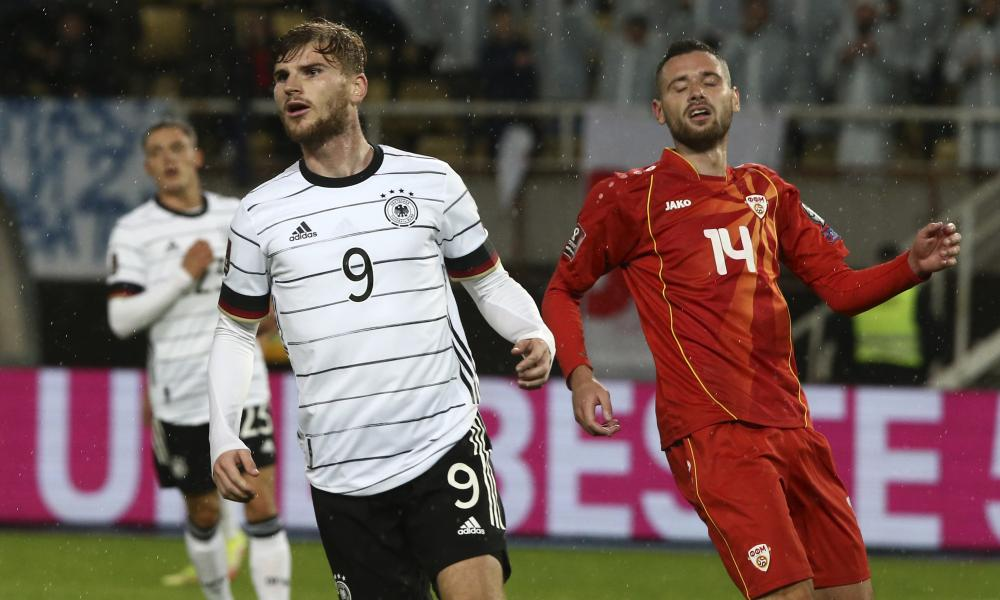 Timo Werner celebrates scoring as Germany clinched their place at next year's World Cup