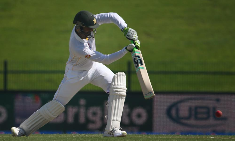 Shoaib Malik turns one away to the on side during an impressive start at first drop for Pakistan.