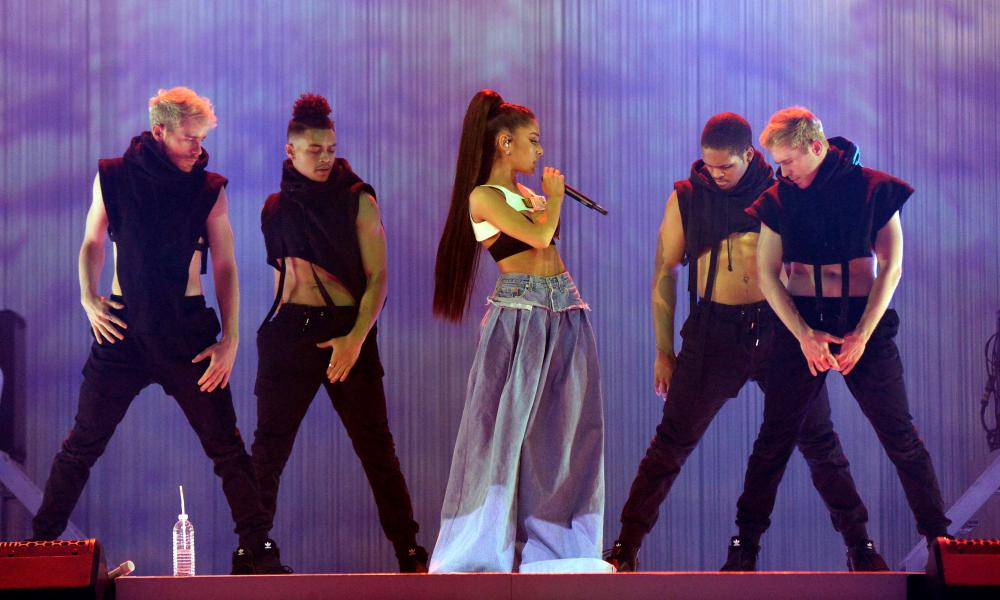 Ariana Grande performing live