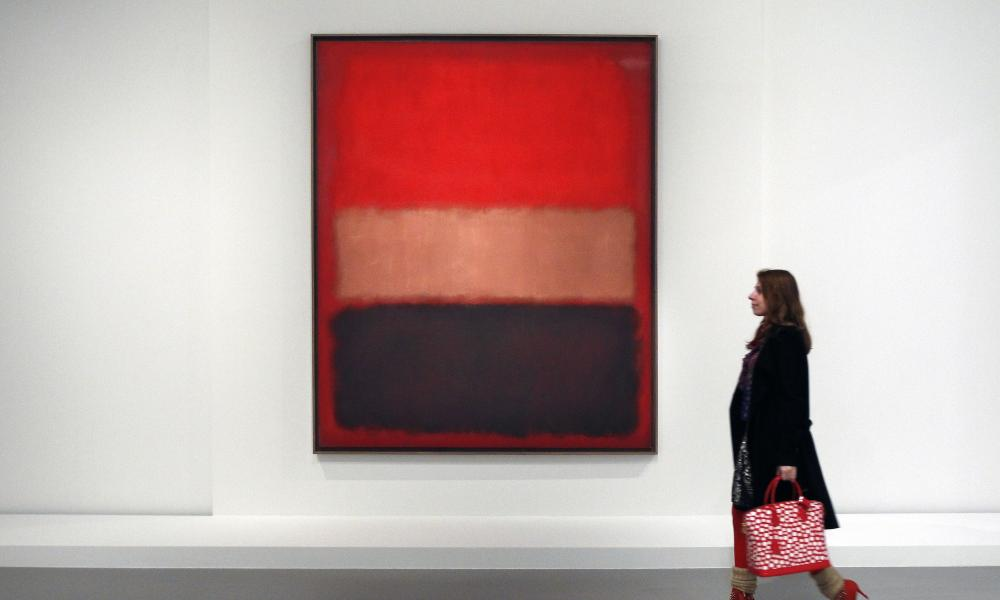 Black, Ochre, Red Over Red by Rothko at the Keys to a Passion exhibition.