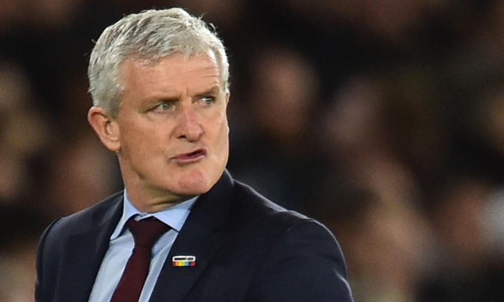 Bah. Mark Hughes reacts as Southampton blow a two-goal lead against Manchester United.