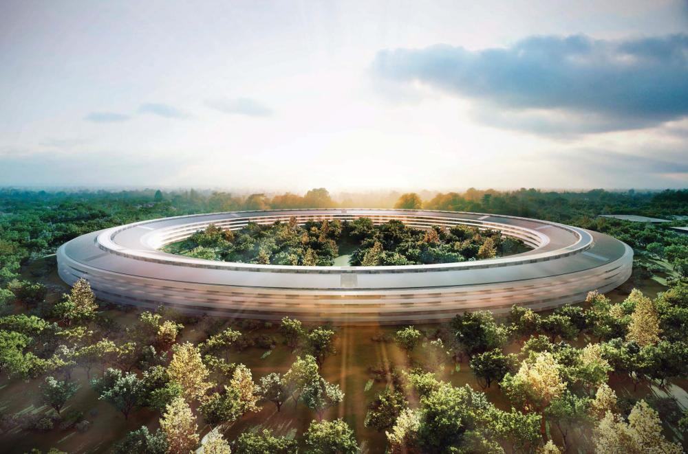 Apple's new HQ in Cupertino, California.