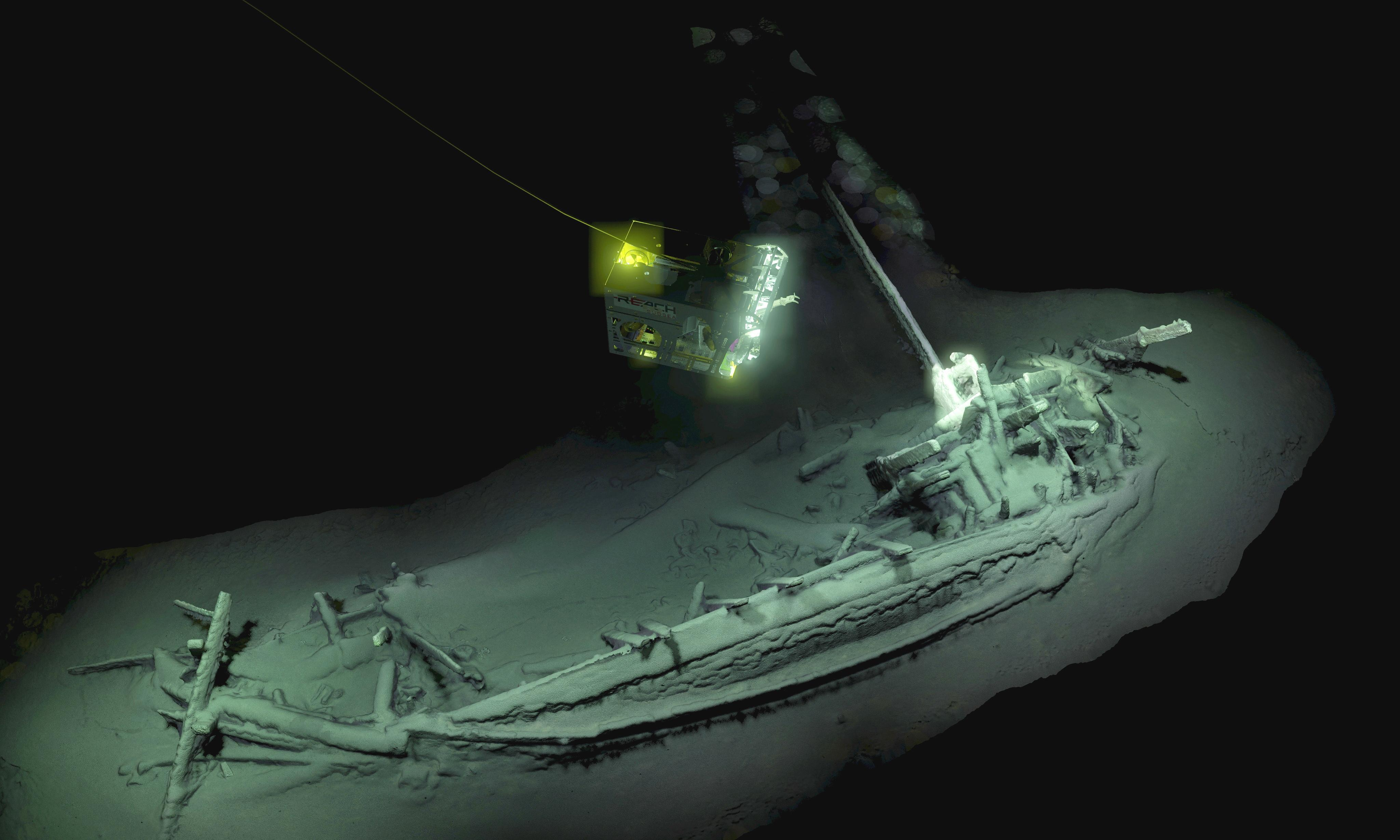 World's oldest intact shipwreck discovered in Black Sea