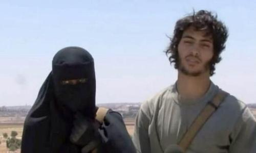 Londoner Khadijah Dare with her Swedish Isis fighter husband