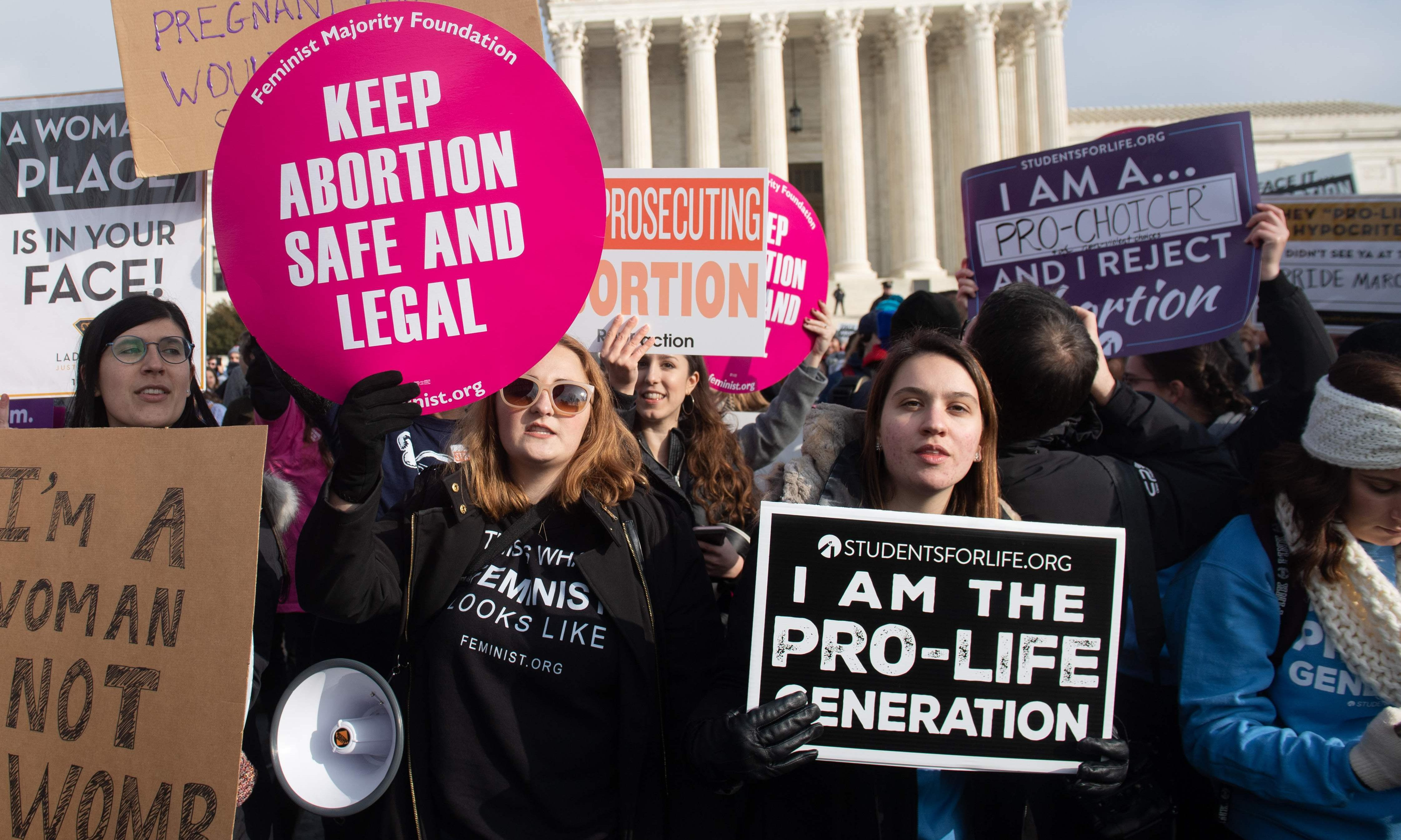Christian rightwing figures warn abortion fight could lead to civil war