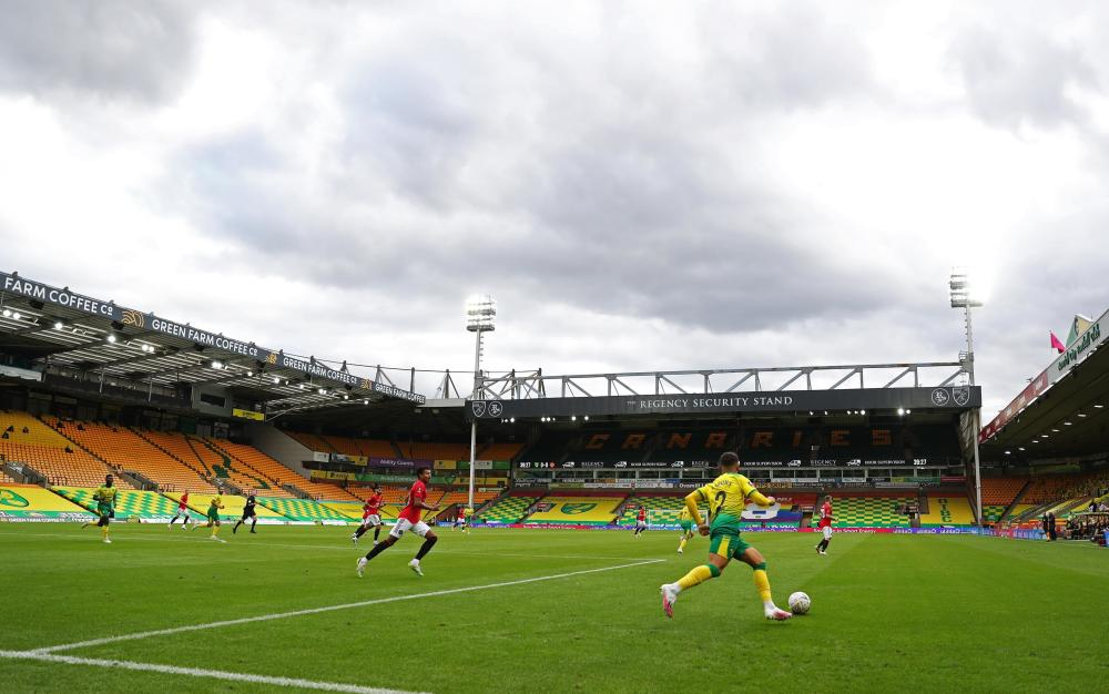 Not much action so here's a general view of Carrow Road.