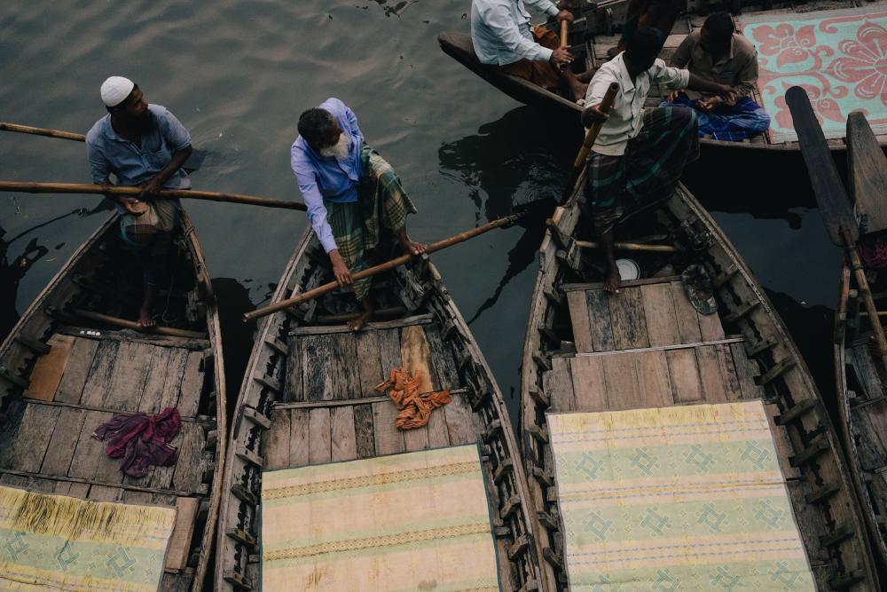 Boatmen in Dhaka
