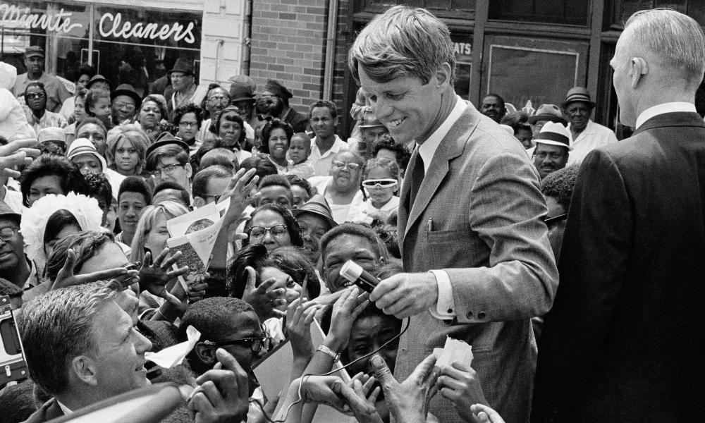 Robert Kennedy campaigning on 4 May 1968.