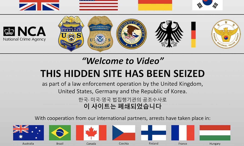 Police arrest hundreds over international child sexual abuse website
