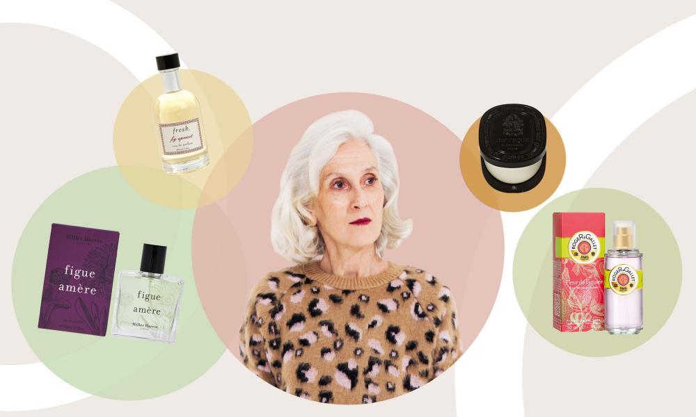 Sylviane Degunst and the fragrances she tested.