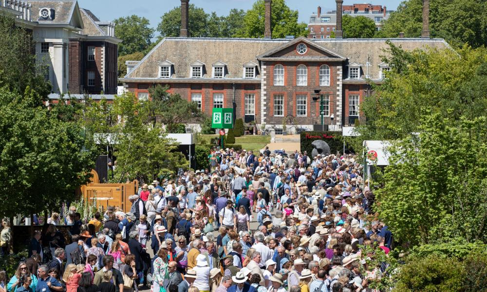 The Chelsea flower show in 2019. This year's edition will look very different.