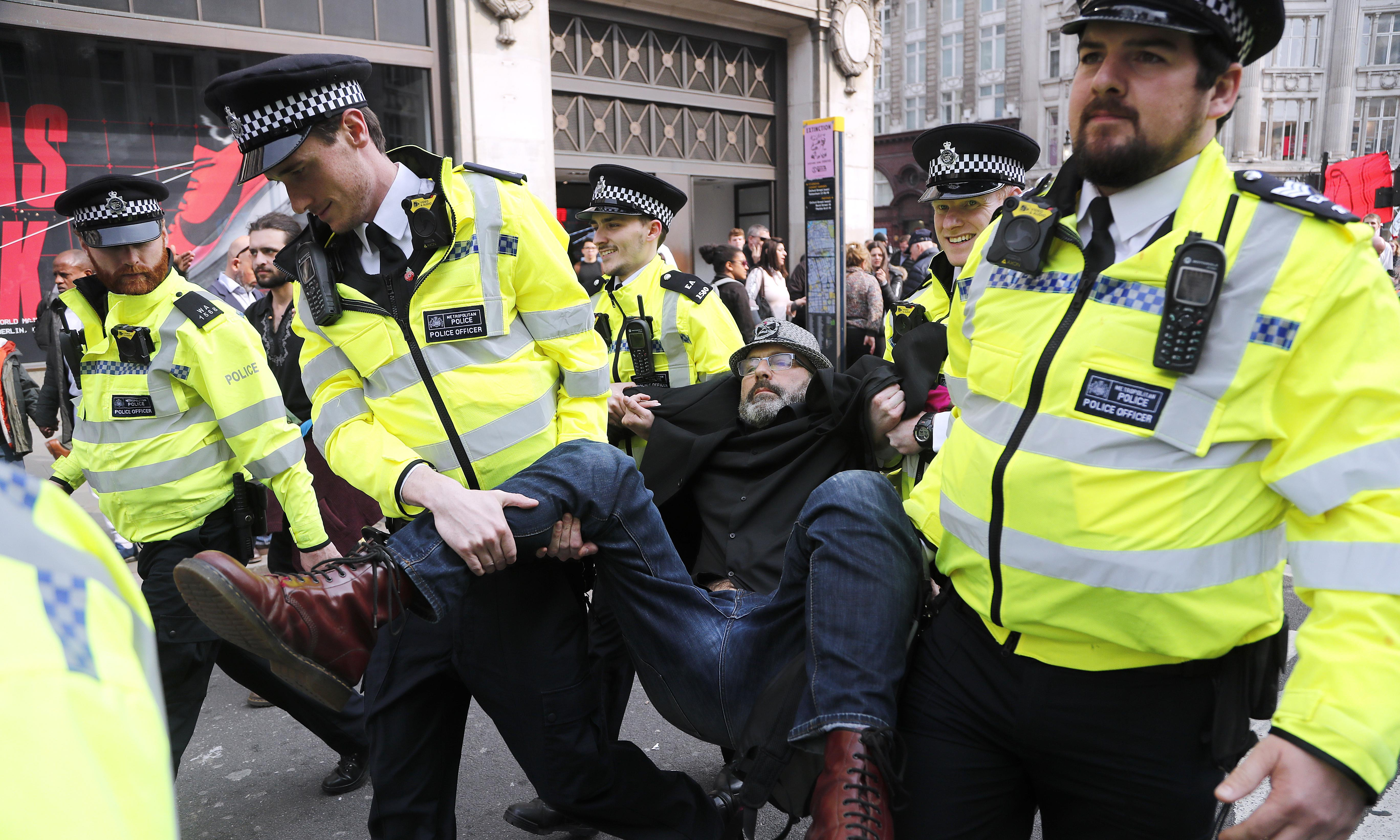 More than 400 arrested at Extinction Rebellion protests in London