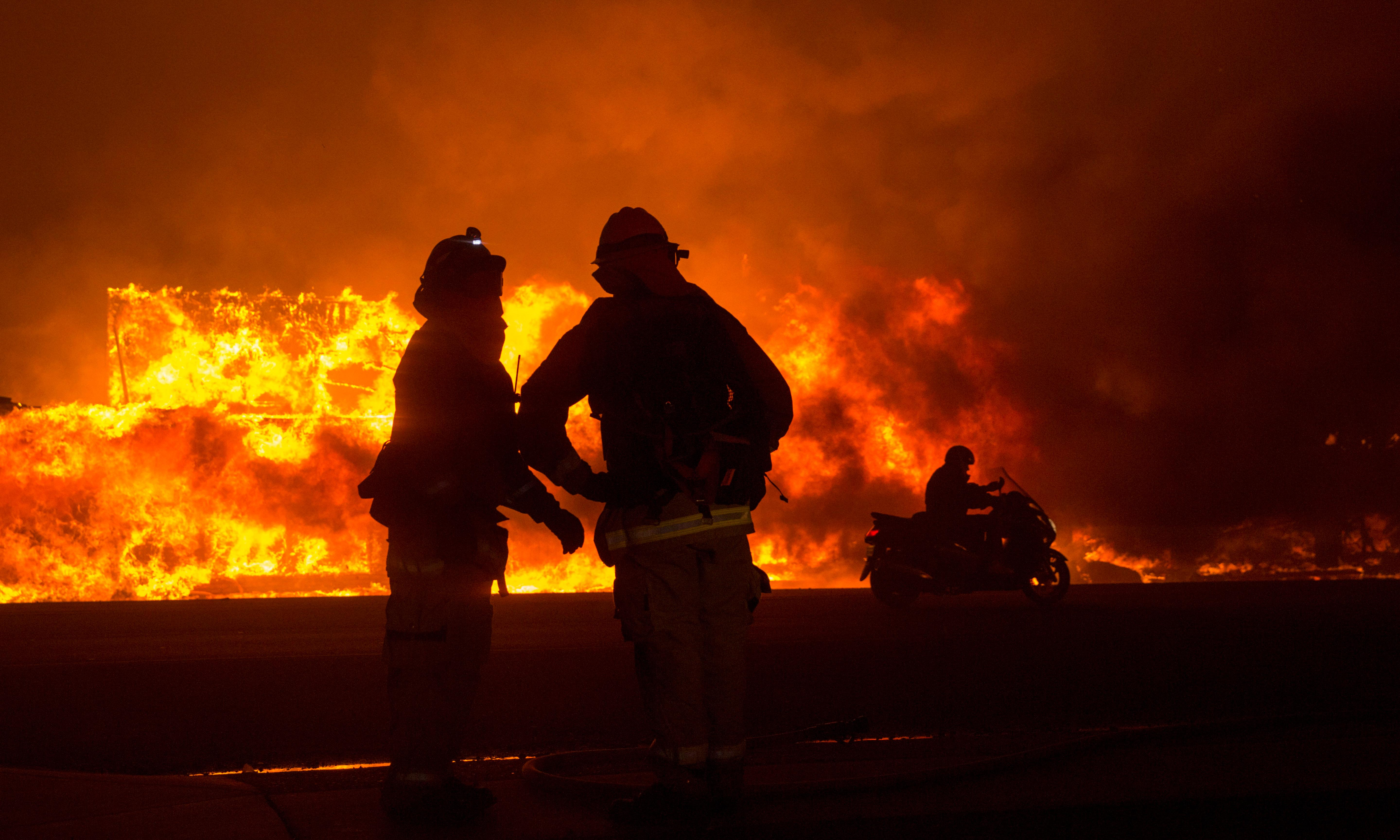 Surviving on beef jerky and one-hour naps: fighting a deadly California blaze