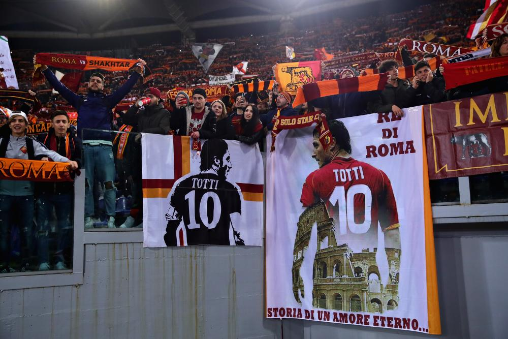 Roma fans are ready.