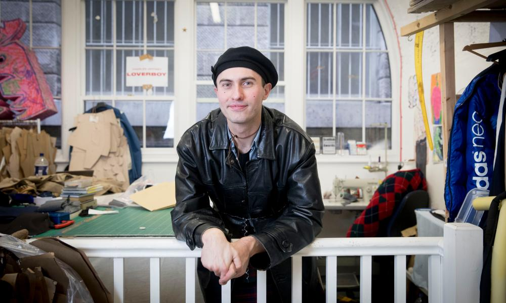 There's this whole perception of how a man can look and a woman can look – and it's such an interesting place to explore' … Charles Jeffrey in his London studio
