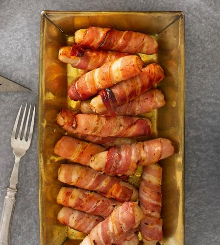 Irresistible Cocktail Sausages Wrapped in Bacon