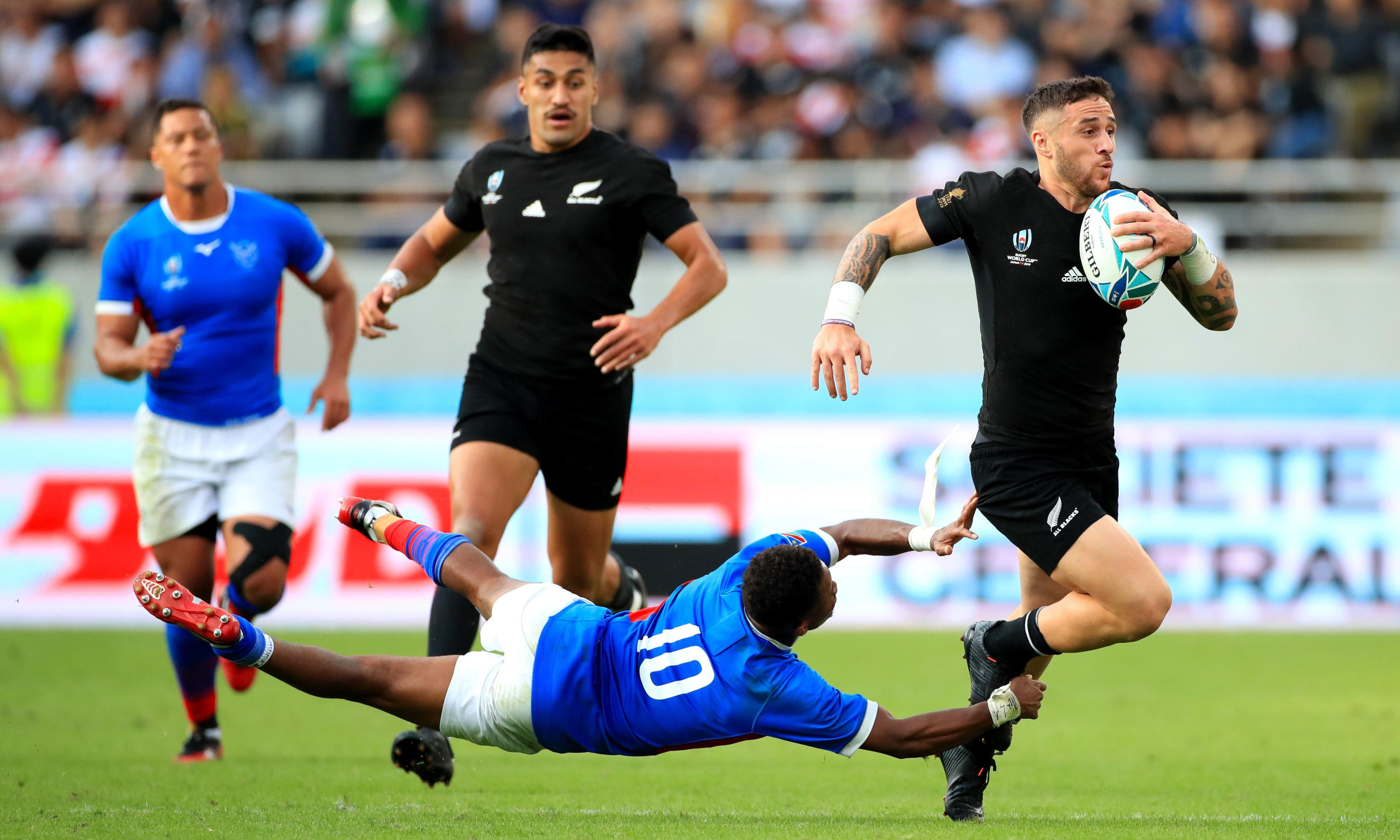 All Blacks fall behind before brushing aside brave Namibia at Rugby World Cup