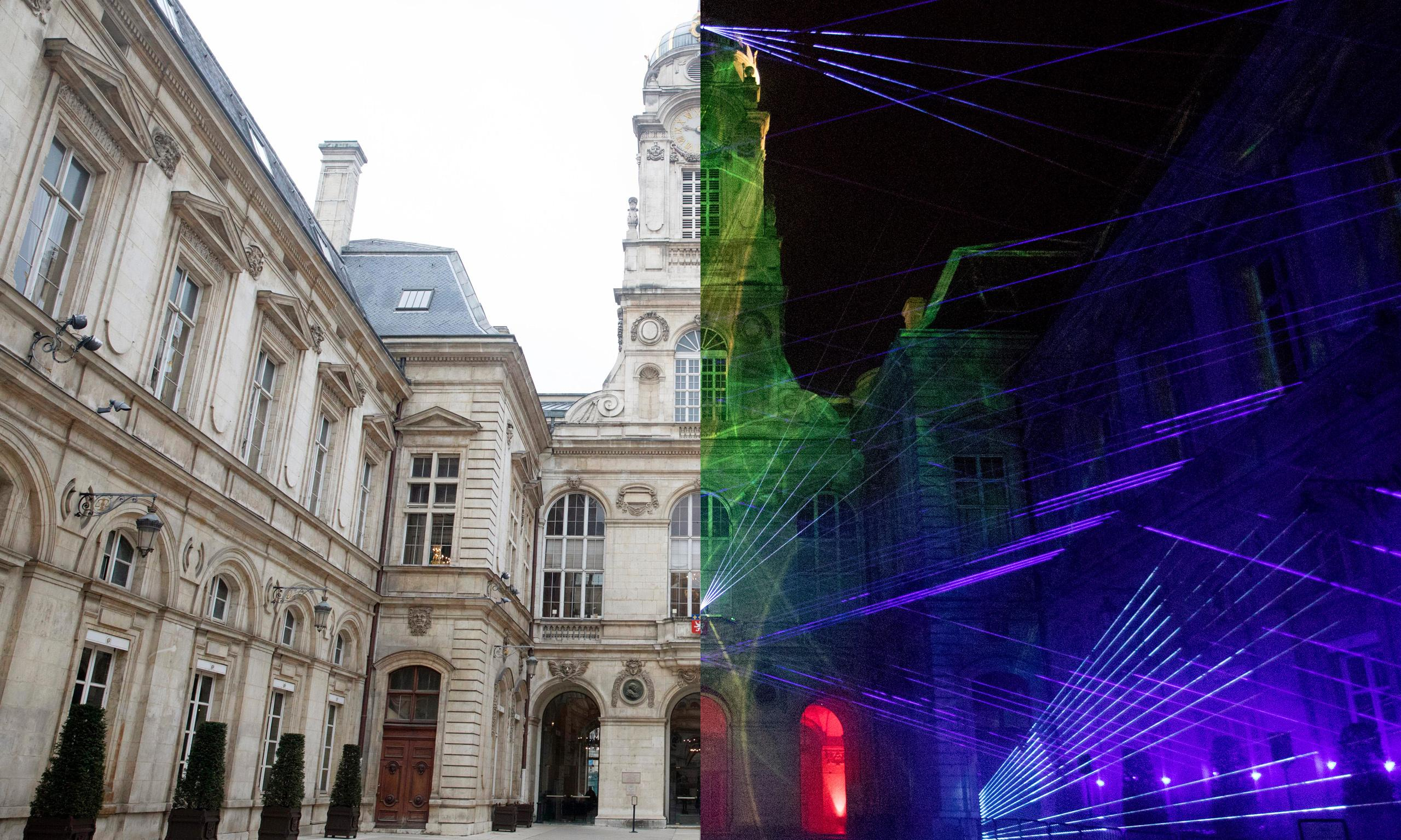 Lyon's festival of lights: before and after – in pictures