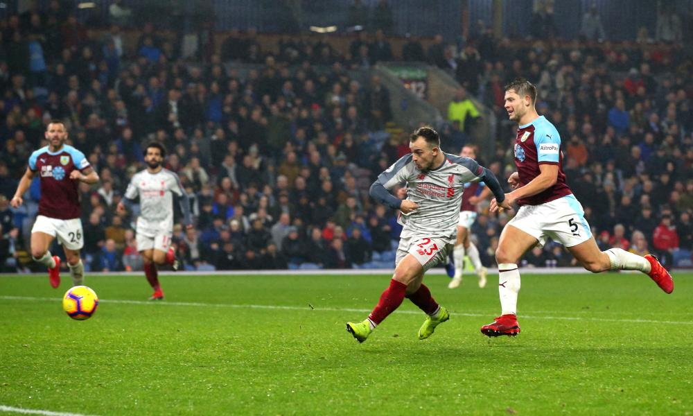 Xherdan Shaqiri clinches the win for Liverpool.