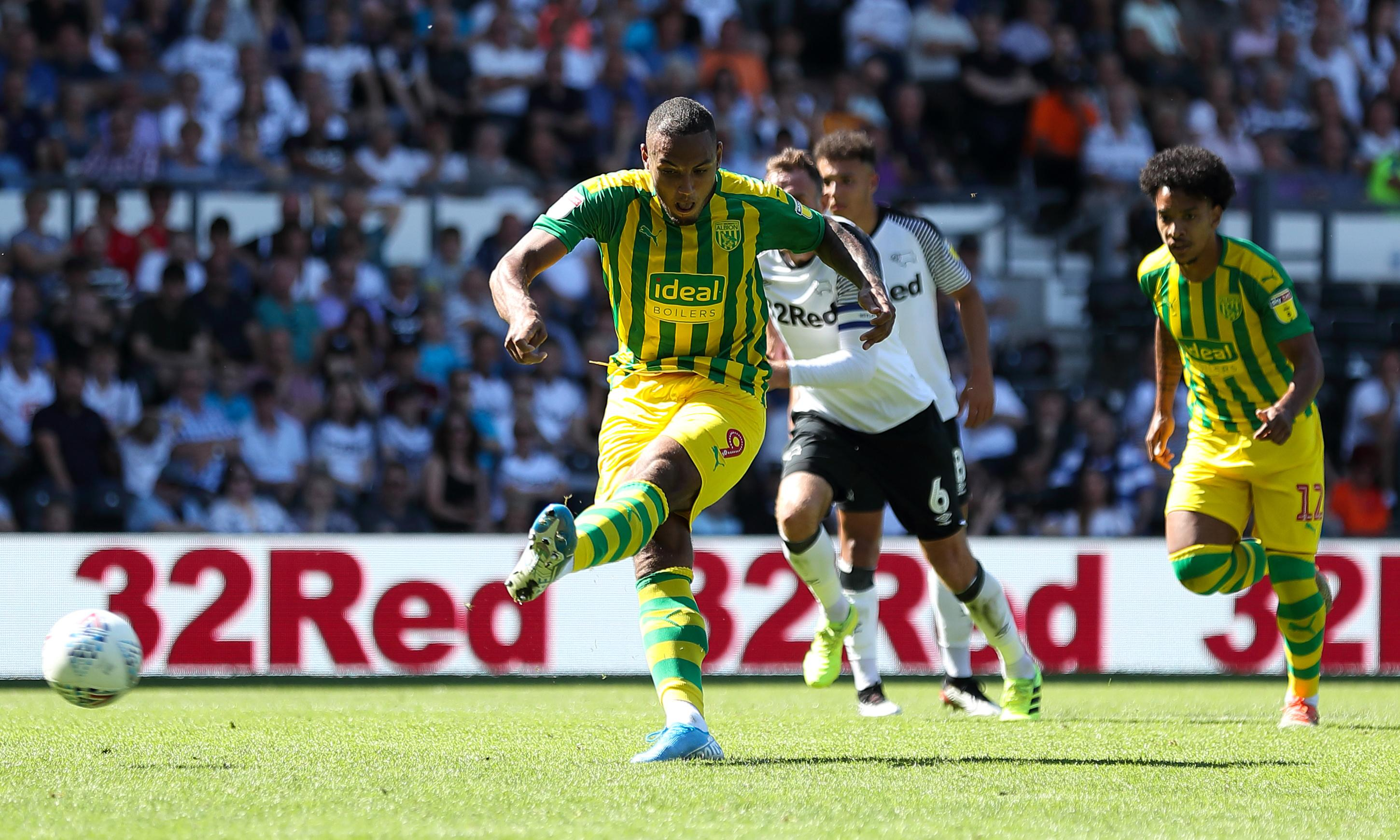Kenneth Zohore's late penalty at Derby preserves West Brom's unbeaten start