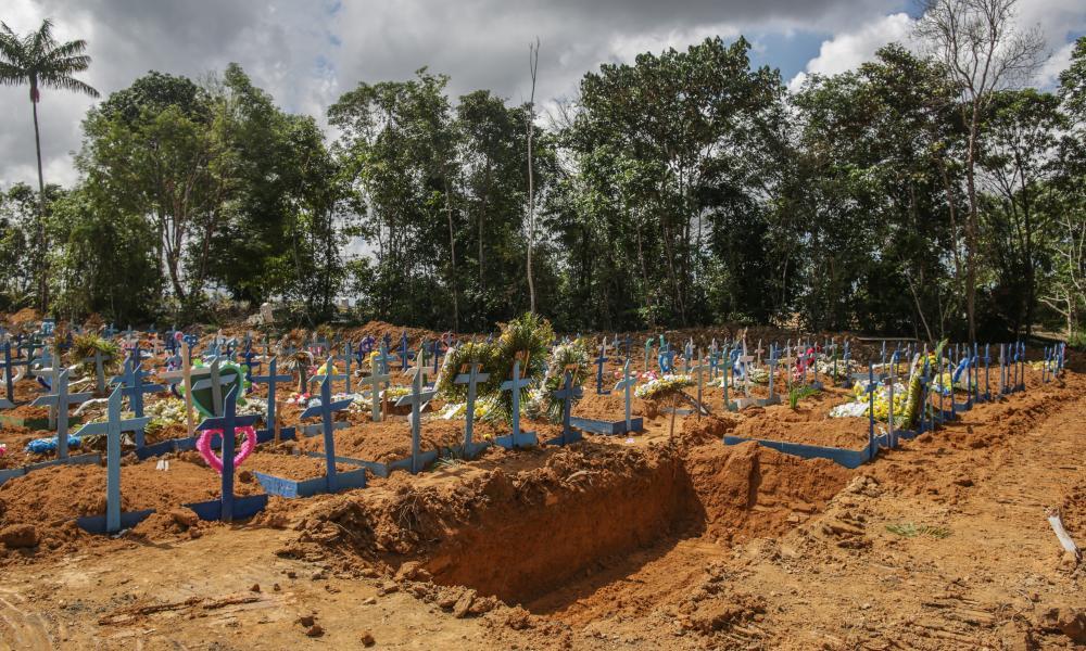 The Parque Tarumã cemetery in Manaus, Brazil