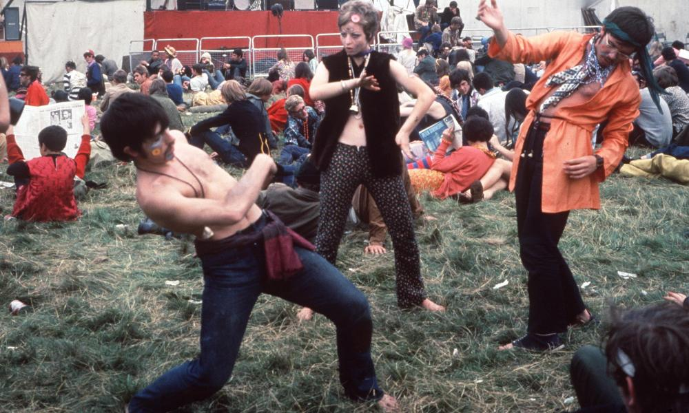 Hippies at Woburn Abbey during the Summer of Love, August 1967.