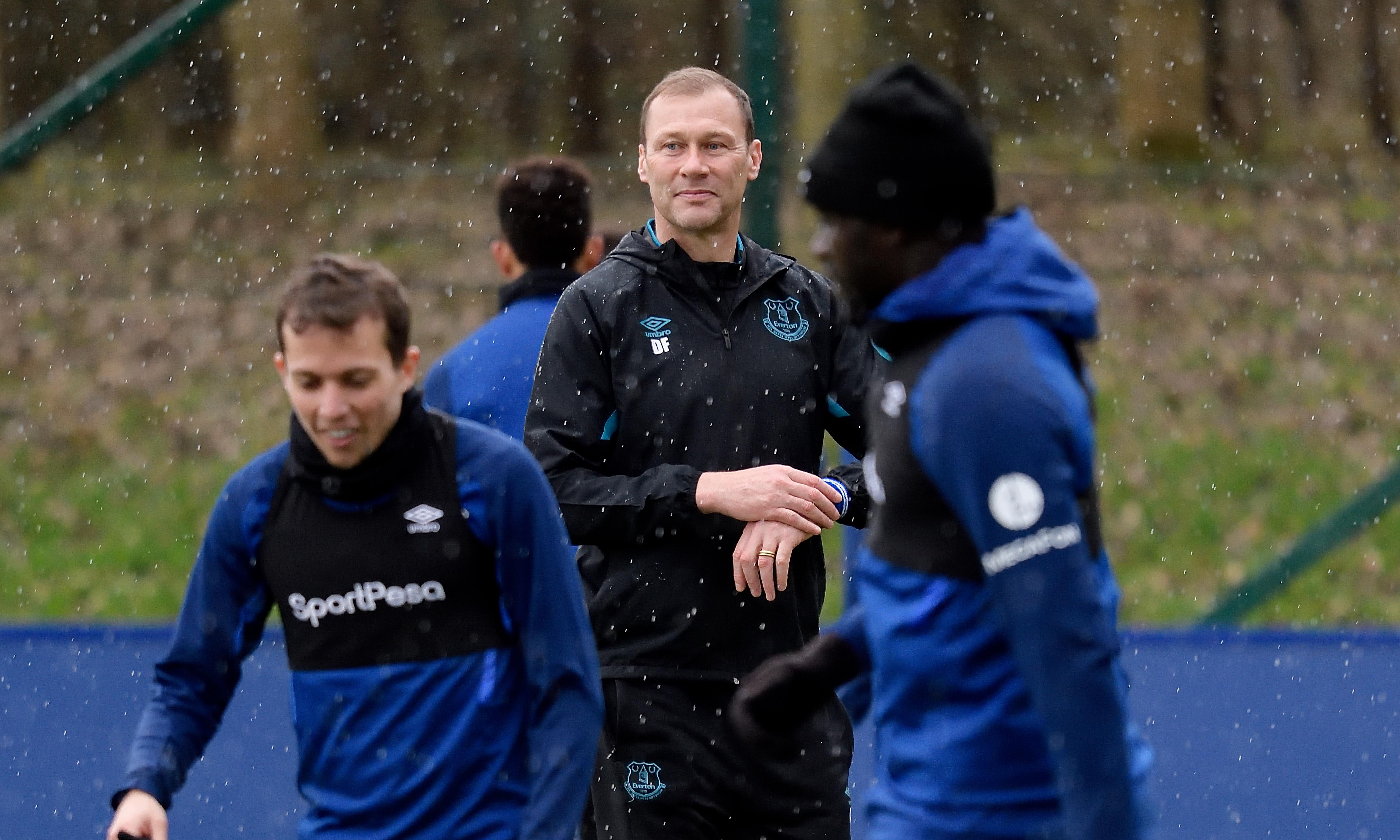 Temporary manager Duncan Ferguson wells up as he sweats on Everton future