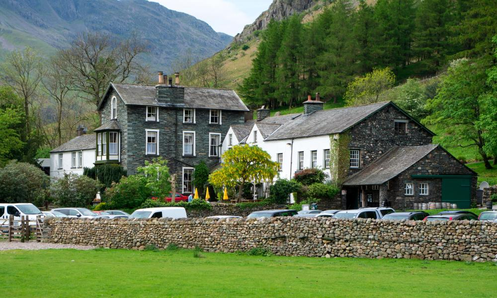 The Old Dungeon Ghyll Hotel.