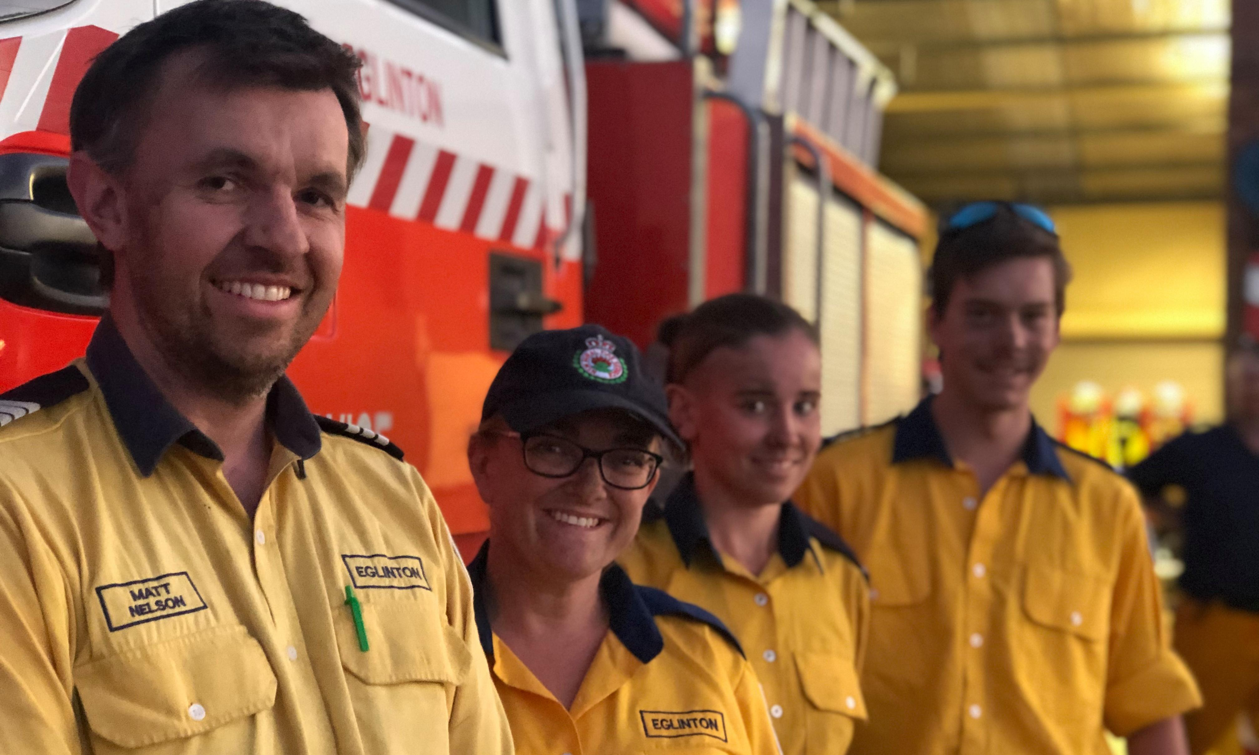 The volunteers fighting fires: 'there's always the fear you're not going to come home'