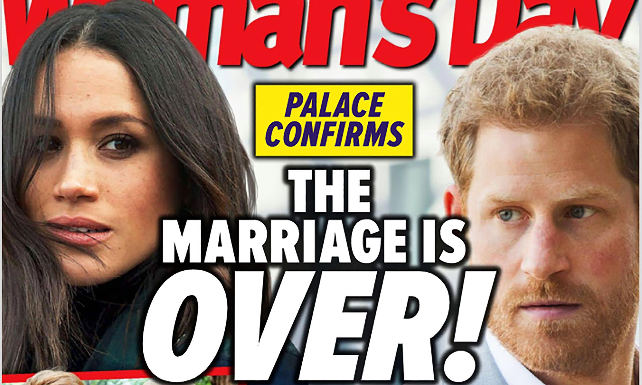 Woman's Day headline declaring Meghan and Harry's marriage over 'blatantly incorrect'