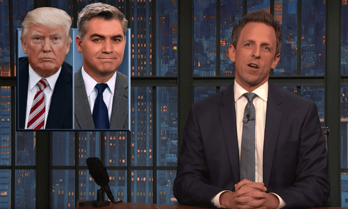 Seth Meyers on CNN suing Trump: 'He's been served more than the Big Mac'