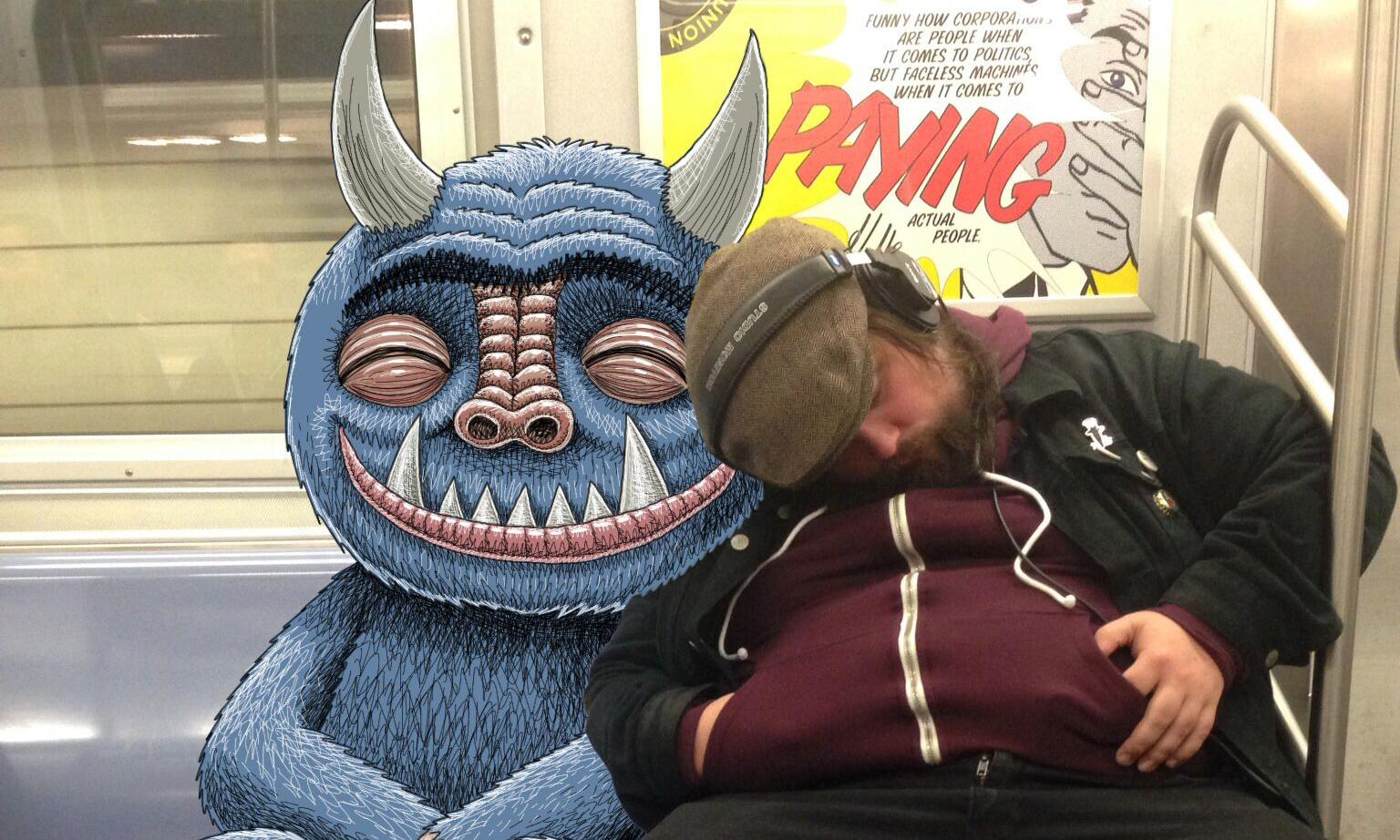 Monstrous commute: The furry blue beasts taking over New York's subway