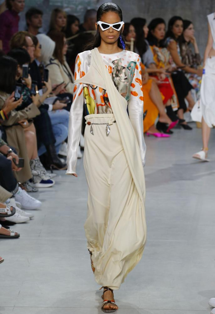 Marni on the catwalk, SS19, Milan fashion week.