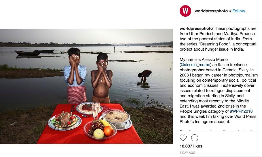 Row erupts over 'poverty porn' images of Indian villagers with fake food