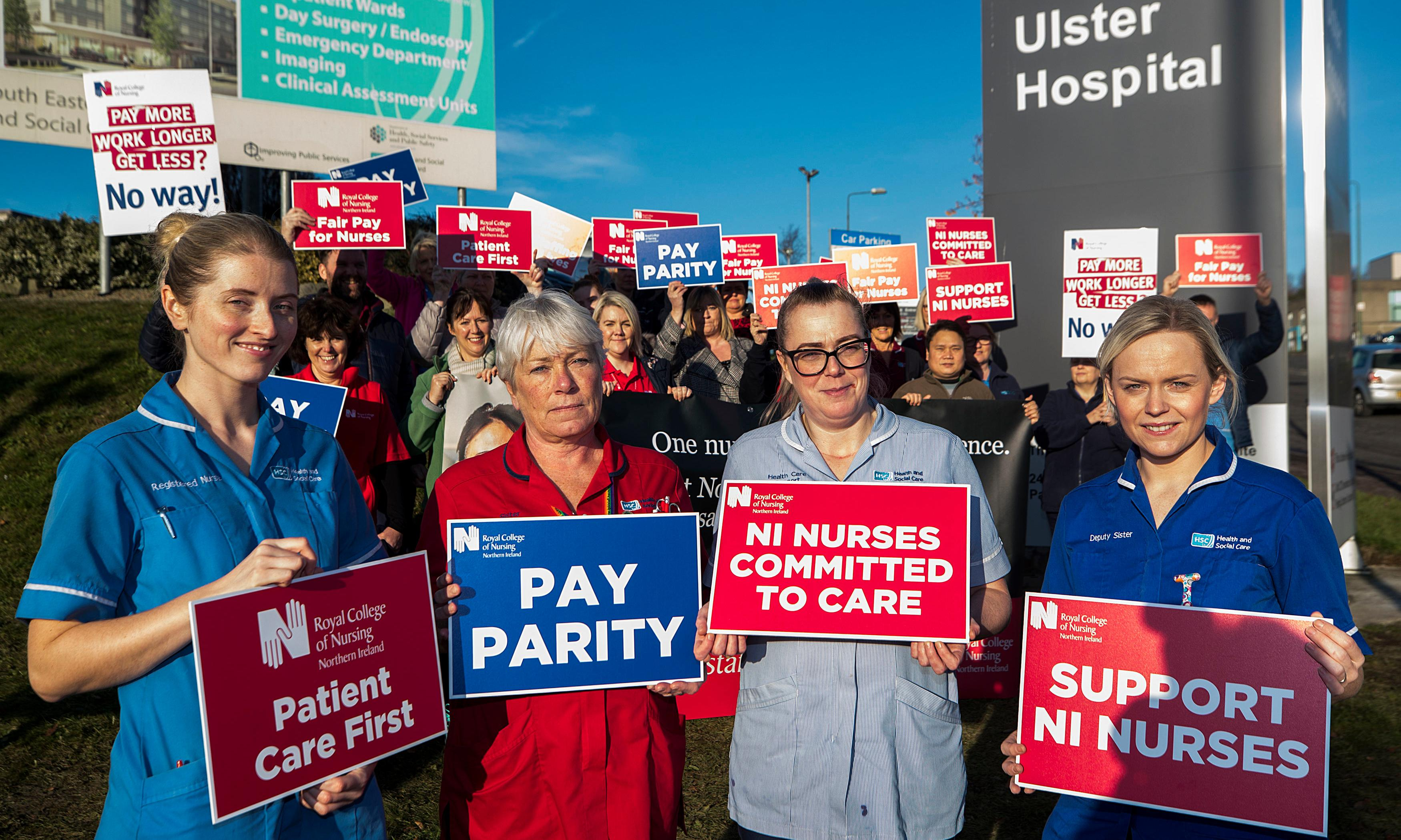 Nurses in Northern Ireland are on strike. The DUP and Sinn Féin are to blame