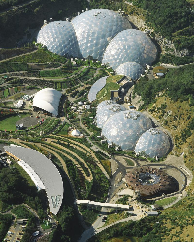 Like a futuristic fungus … the Eden Project, Cornwall.
