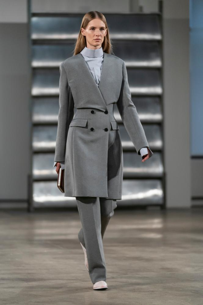 Perfectly cut trouser suits featured on the catwalk at The Row's  New York fashion week show