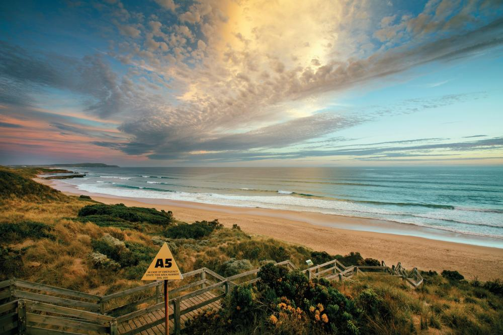 The Hemsworth lads grew up surfing Phillip Island's many rugged beaches.