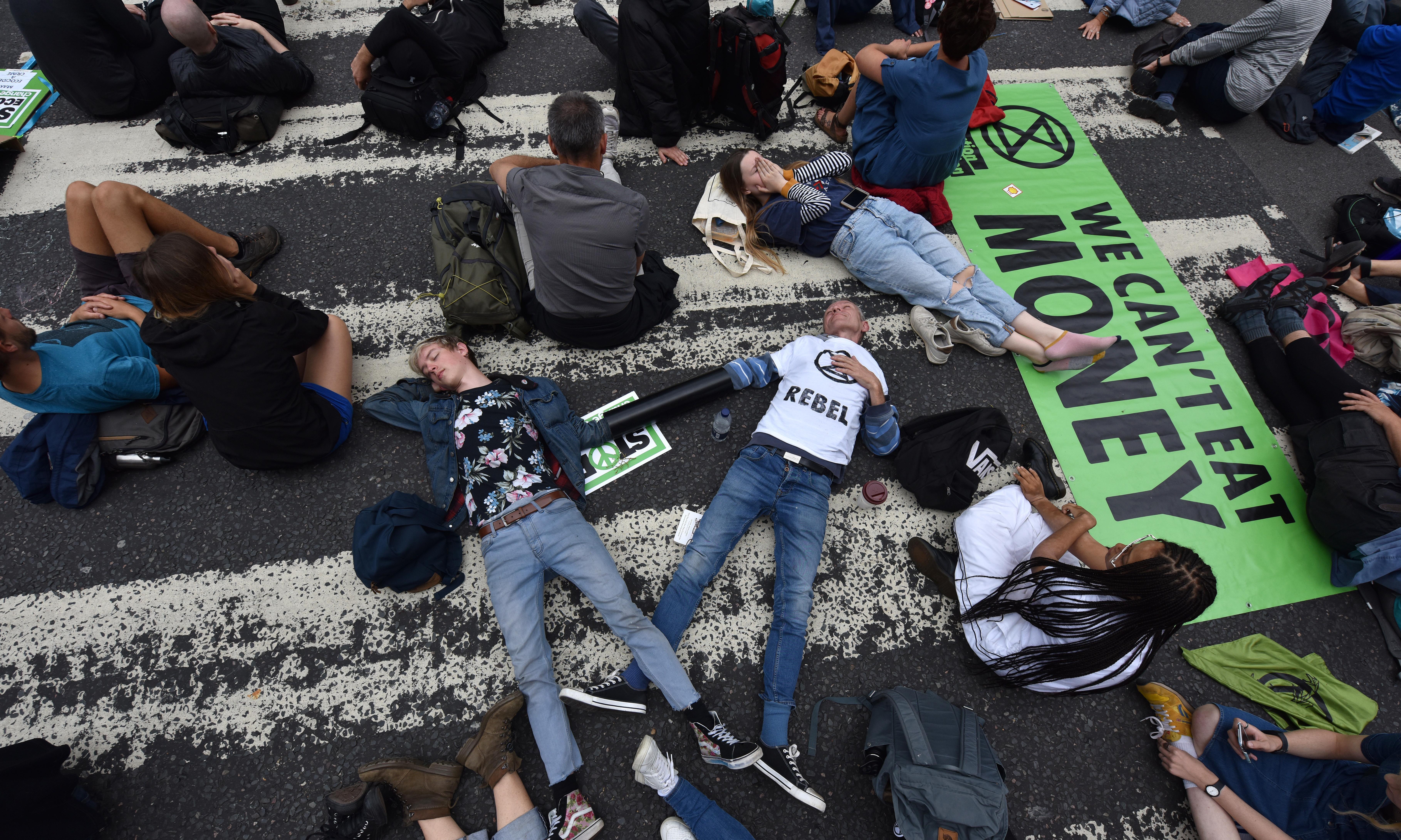 Extinction Rebellion activists target east London concrete plant