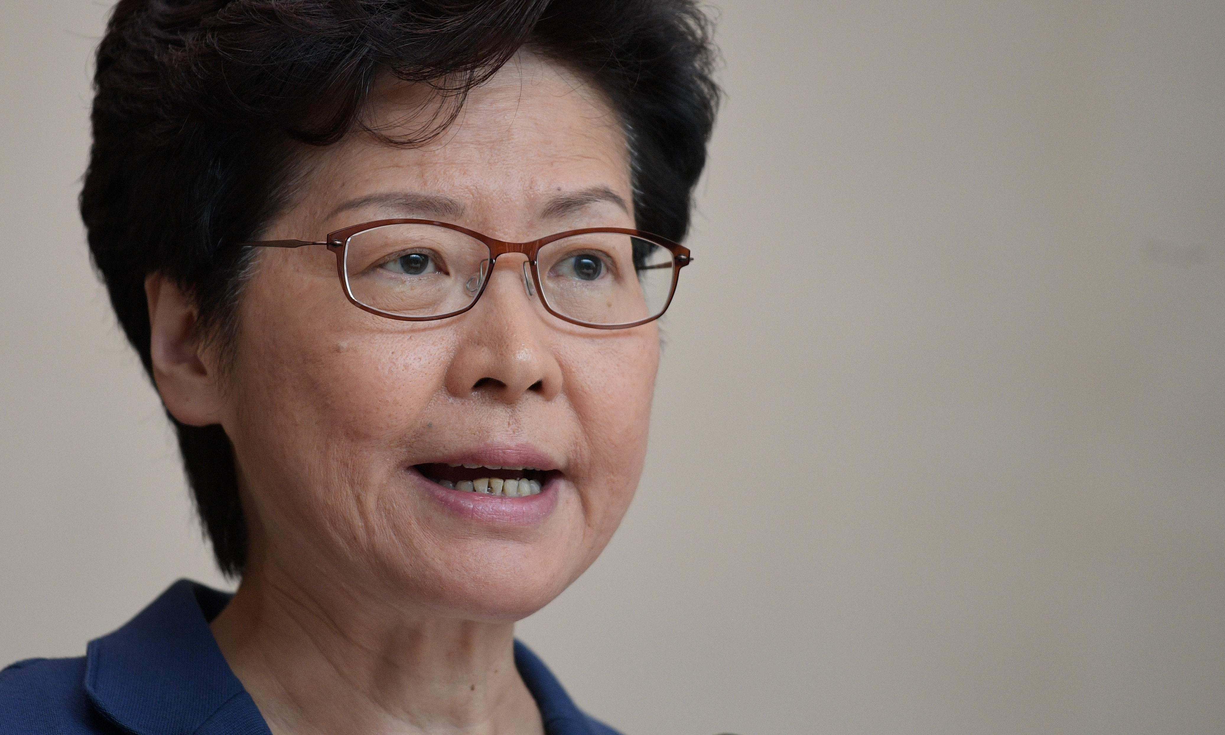 Hong Kong's Carrie Lam refuses to rule out asking China for help to quell protests