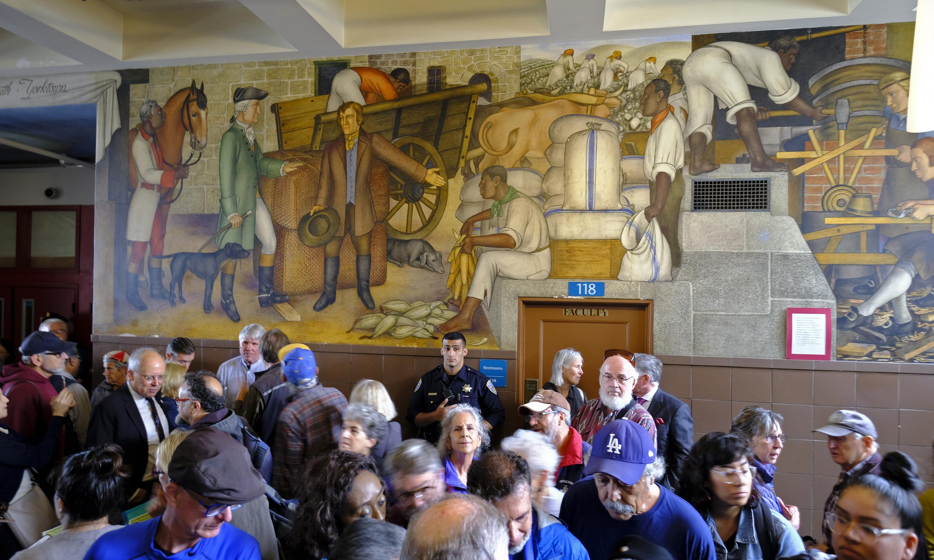 San Francisco school board reverses plan to paint over mural showing slaves and violence