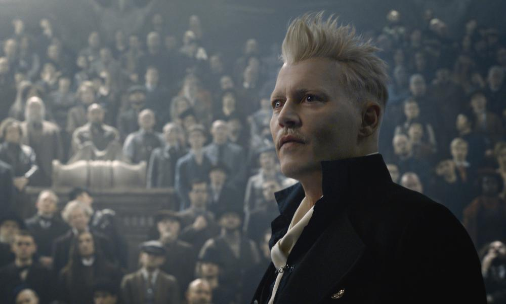 Controversial … Johnny Depp in Fantastic Beasts: The Crimes of Grindelwald, released in 2018.