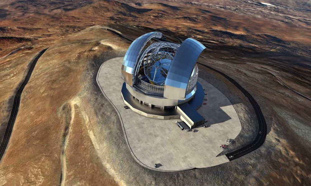 The European Extremely Large Telescope (artist's impression)