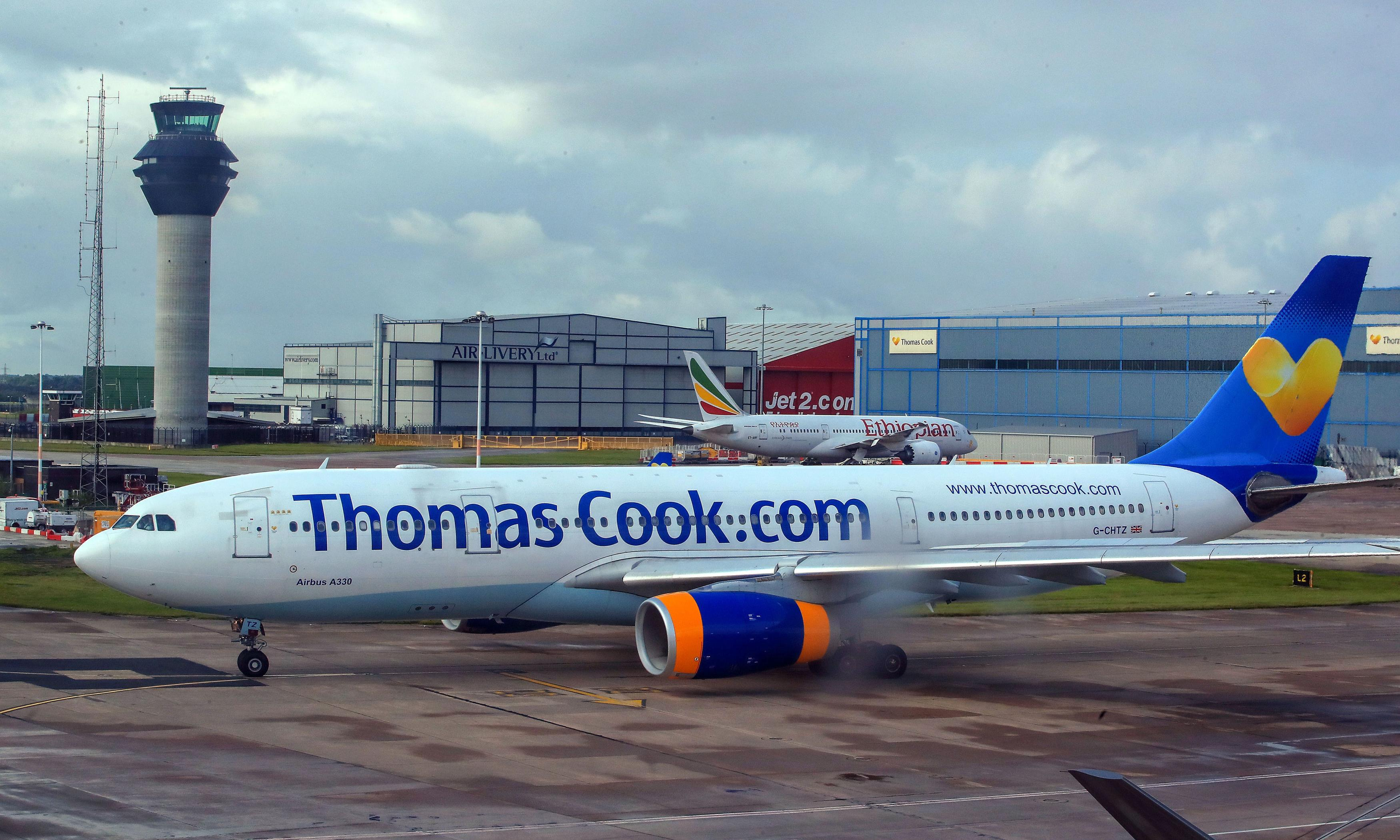 Thomas Cook: planes put on standby to rescue travellers as talks go to wire