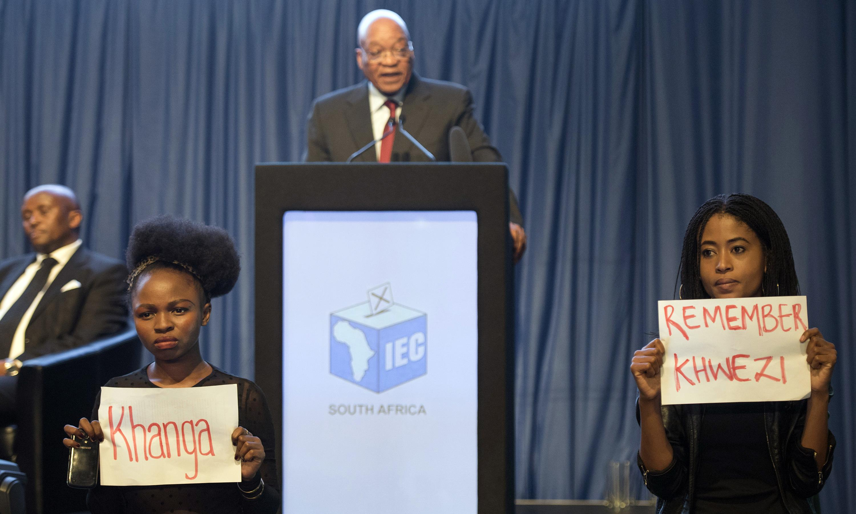 How South African anti-rape protesters disrupted Zuma's speech