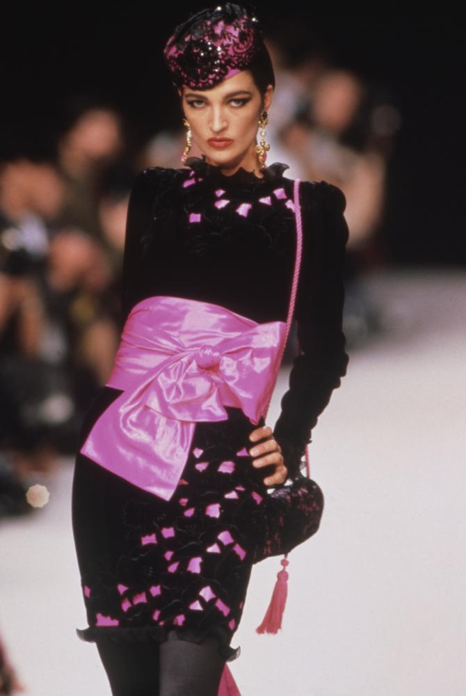 The Ungaro ready-to-wear show in Paris, 1991.