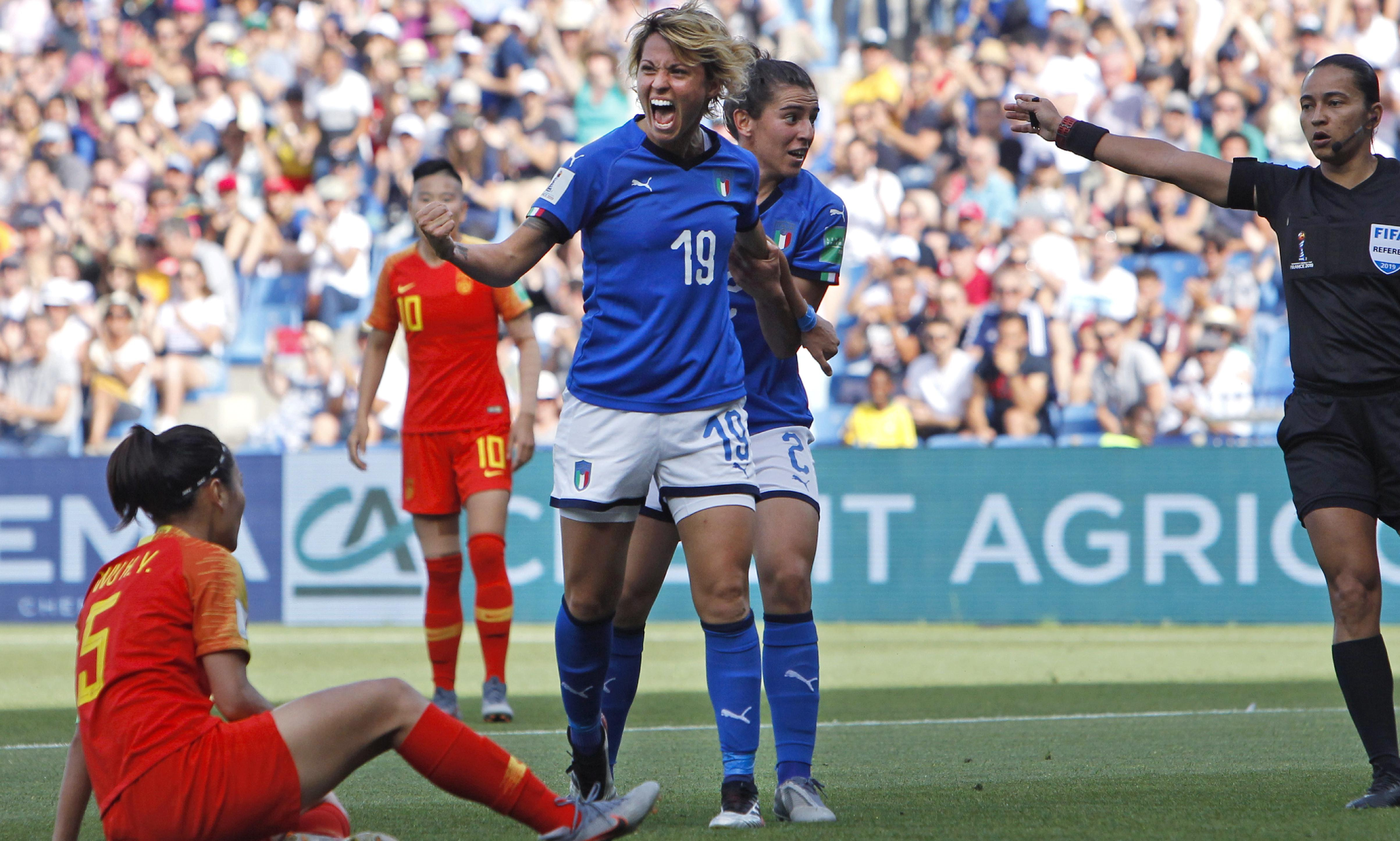 Valentina Giacinti steers Italy into quarter-finals as China brushed asides