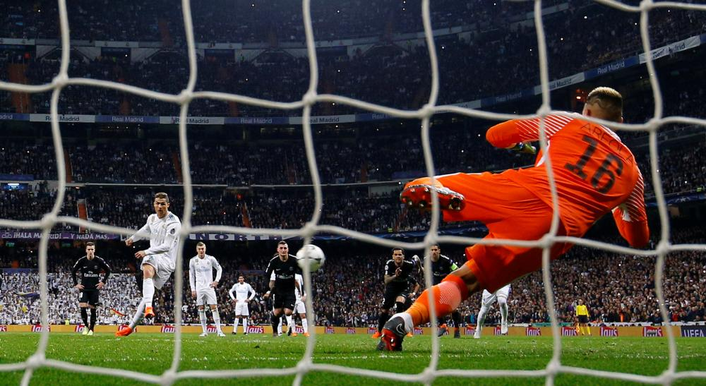Ronaldo scores the equaliser from the penalty spot.